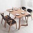 TIMI 天米 北欧白橡实木餐桌椅组合 1.4米餐桌+四椅