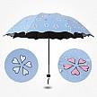 萊朗 遇水變色黑膠晴雨傘